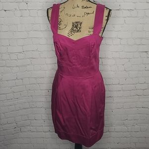 French Connection Hot Pink Mini Dress size 8